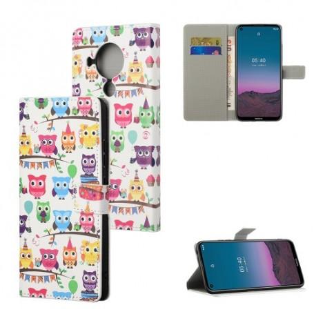 Nokia 5.4 värikkäät pöllöt suojakotelo