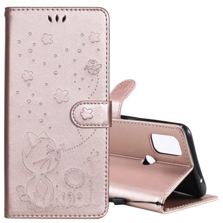 OnePlus Nord N10 5G ruusukulta kissa suojakotelo