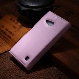 Lumia 735 vaaleanpunainen puhelinlompakko