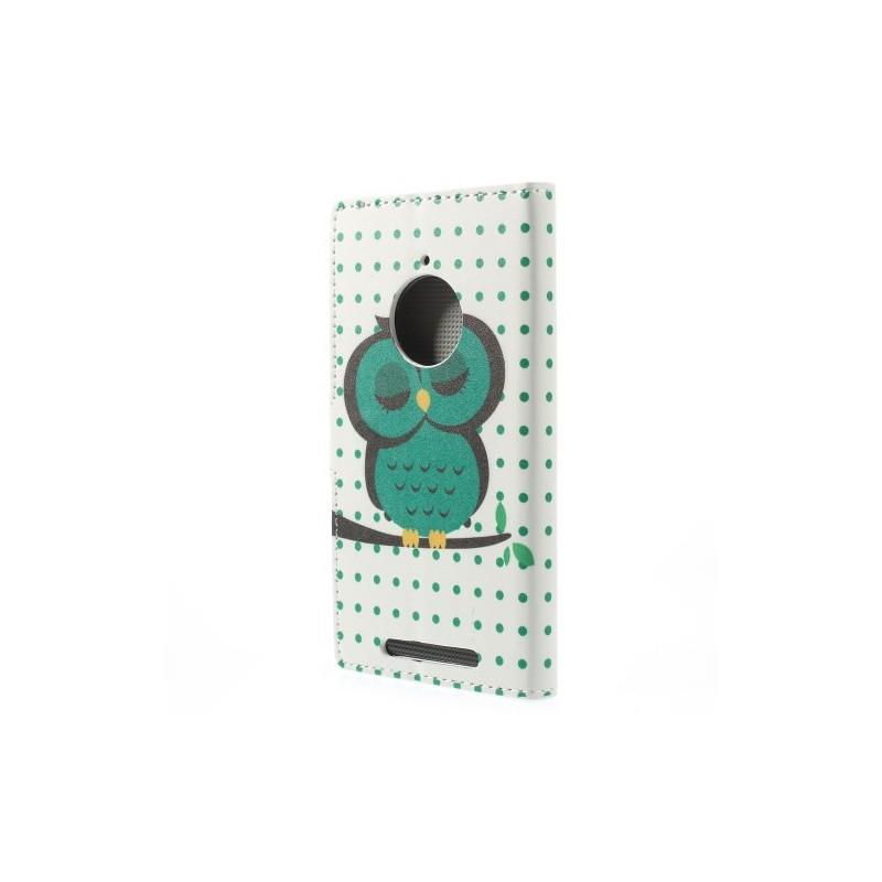 Lumia 830 vihreä pöllö puhelinlompakko
