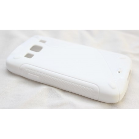 Galaxy Xcover valkoinen silikoni suojakuori.