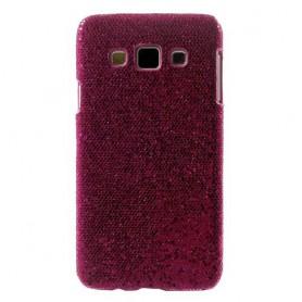 Galaxy A3 hot pink glitter suojakuori.