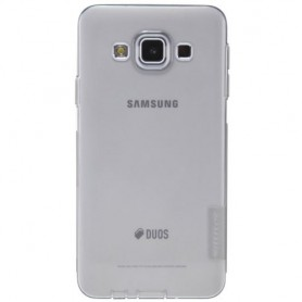 Galaxy A3 ultra ohut läpinäkyvä silikonisuojus.