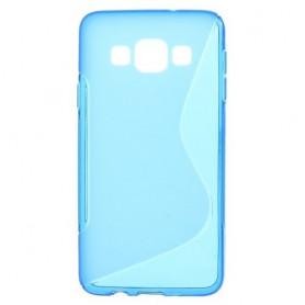 Galaxy A3 sininen silikonisuojus.