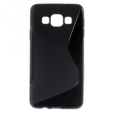 Galaxy A3 musta silikonisuojus.