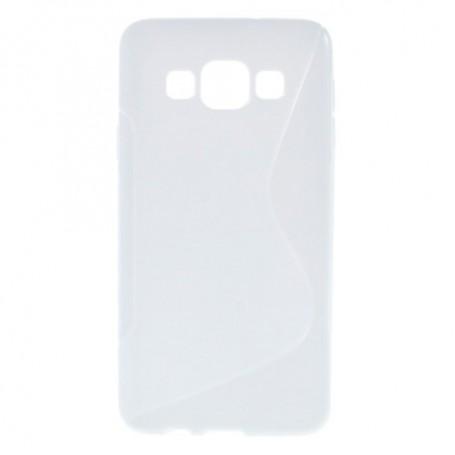 Galaxy A3 valkoinen silikonisuojus.
