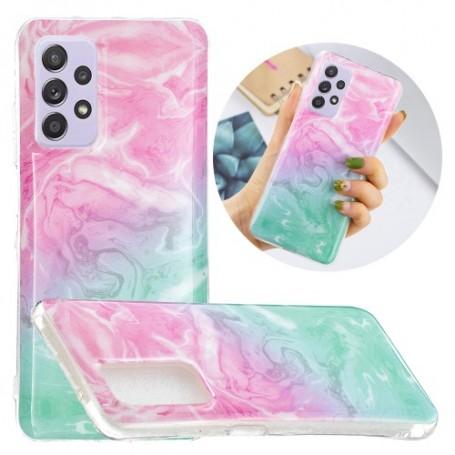 Samsung Galaxy A52 / A52 5G värikäs marmori suojakuori