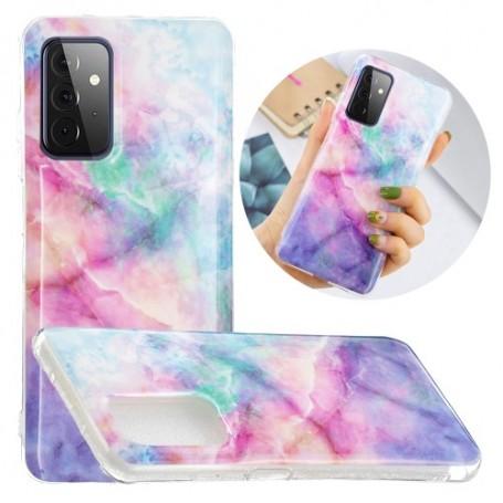 Samsung Galaxy A52 / A52 5G värikäs tie-dye marmori suojakuori