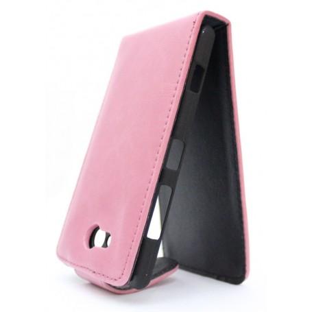 Lumia 820 vaaleanpunainen läppäkotelo.