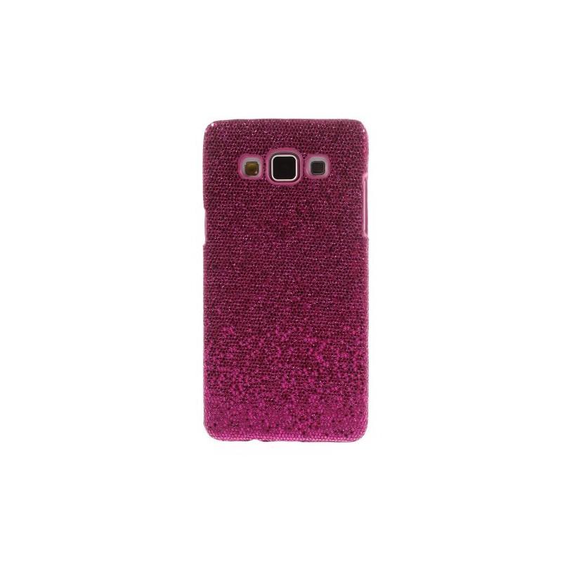 Galaxy A5 hot pink glitter suojakuori.