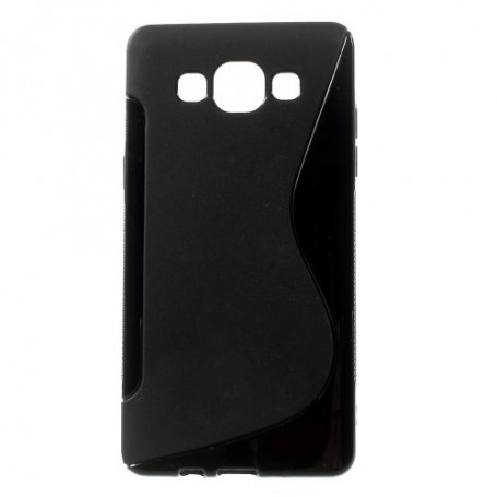 Galaxy A5 musta silikonisuojus.