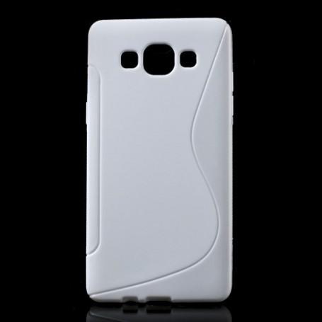 Galaxy A5 valkoinen silikonisuojus.