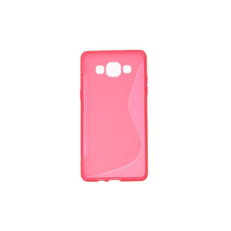 Galaxy A5 roosan punainen silikonisuojus.