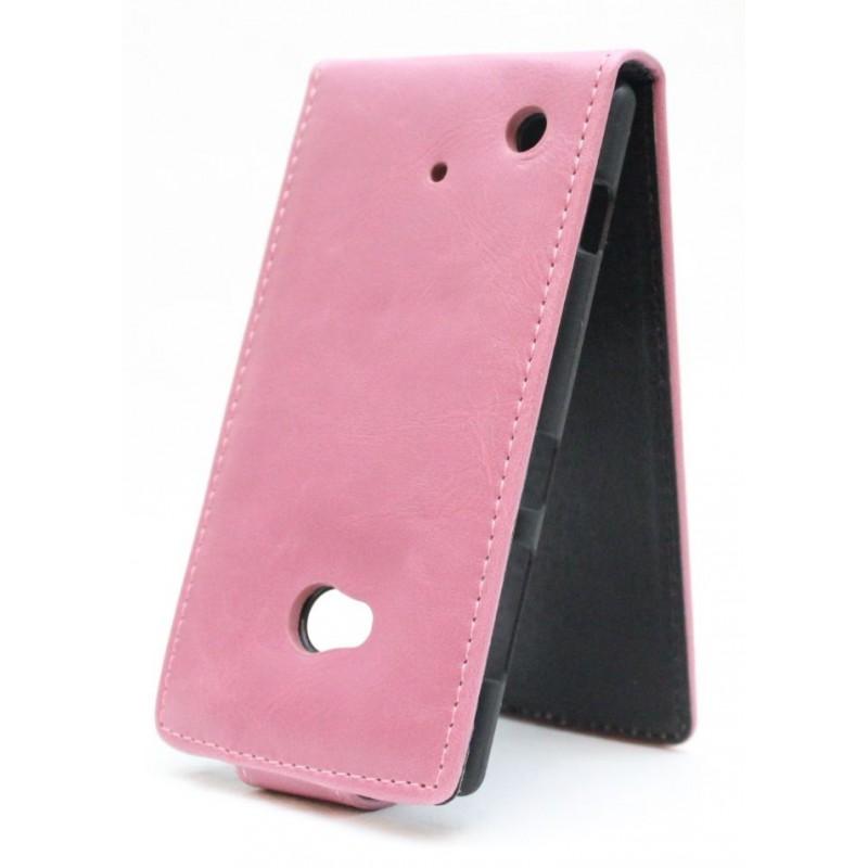 Lumia 720 vaaleanpunainen läppäkotelo.