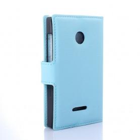 Lumia 435 vaaleansininen puhelinlompakko