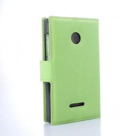 Lumia 435 vihreä puhelinlompakko
