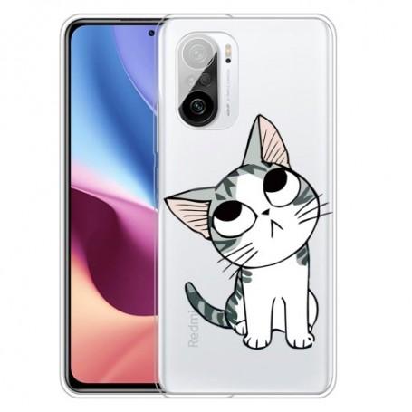 Xiaomi Mi 11i läpinäkyvä kissa suojakuori