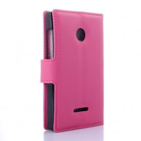 Lumia 435 pinkki puhelinlompakko