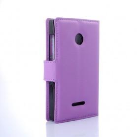 Lumia 435 violetti puhelinlompakko