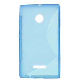 Lumia 435 sininen silikonisuojus.