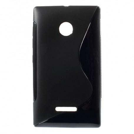 Lumia 435 musta silikonisuojus.