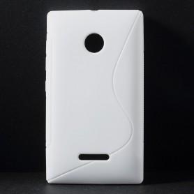 Lumia 435 valkoinen silikonisuojus.