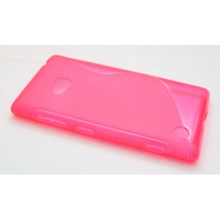 Lumia 720 roosan punainen silikoni suojakuori.