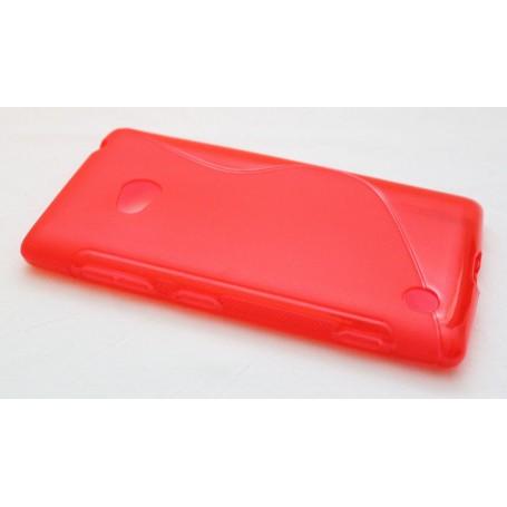 Lumia 720 punainen silikoni suojakuori.