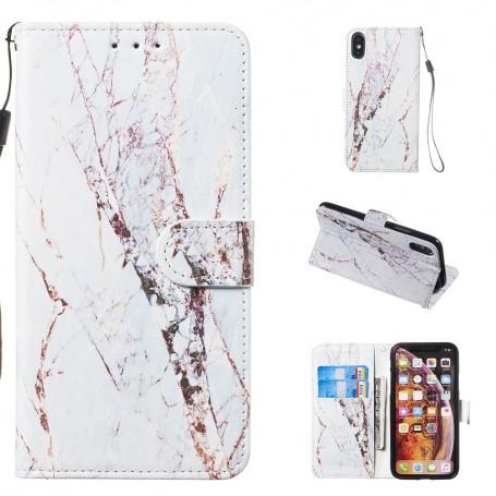 iPhone X / Xs  valkoinen marmori suojakotelo