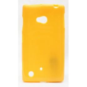 Lumia 720 keltainen silikoni suojakuori.