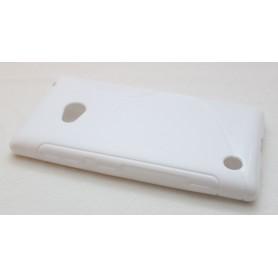 Lumia 720 valkoinen silikoni suojakuori.