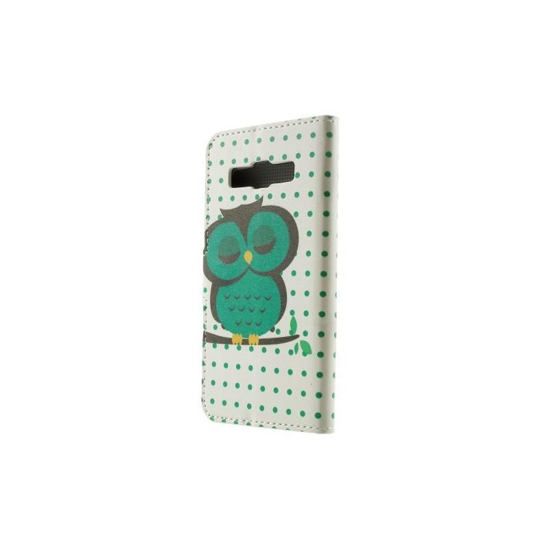 Galaxy A3 vihreä pöllö puhelinlompakko