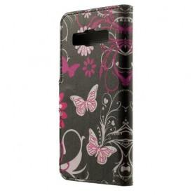 Galaxy A3 kukkia ja perhosia puhelinlompakko