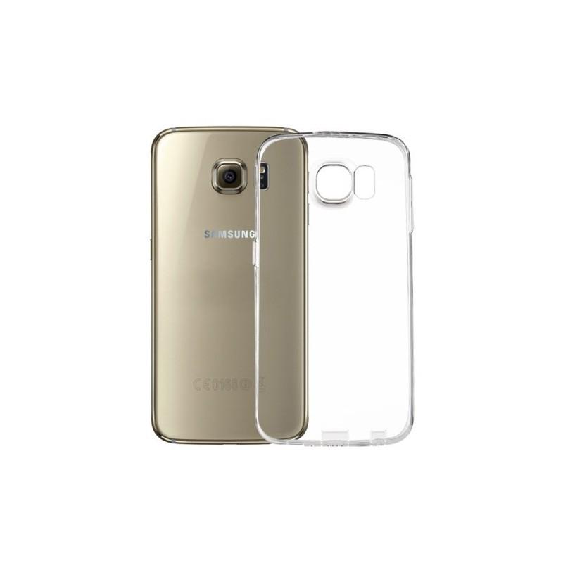 Galaxy S6 ultra ohut läpinäkyvä silikonisuojus.