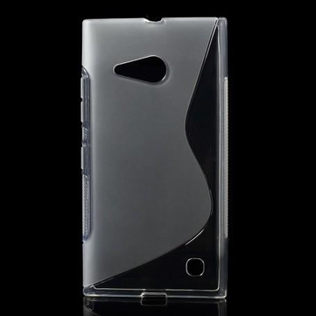 Lumia 735 läpinäkyvä silikonikuori.
