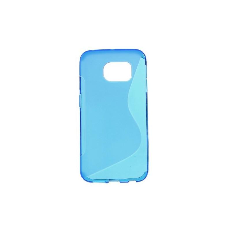 Galaxy S6 edge sininen silikonisuojus.