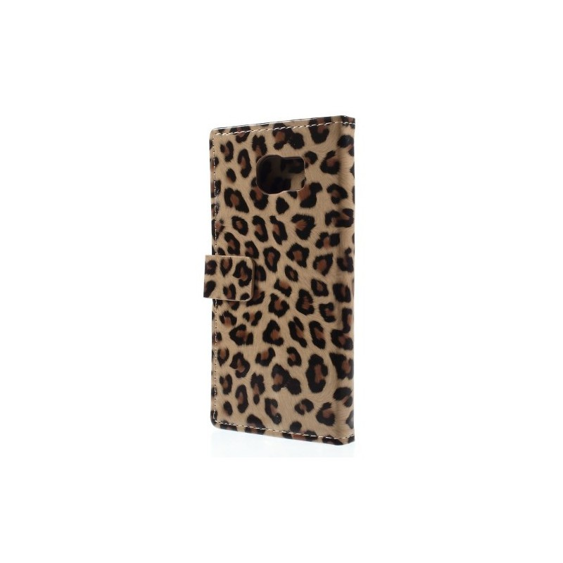 Galaxy S6 edge leopardi puhelinlompakko