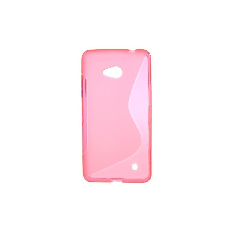 Lumia 640 roosan punainen silikonisuojus.