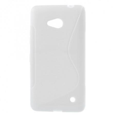 Lumia 640 valkoinen silikonisuojus.