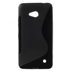 Lumia 640 musta silikonisuojus.