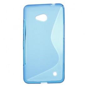Lumia 640 sininen silikonisuojus.