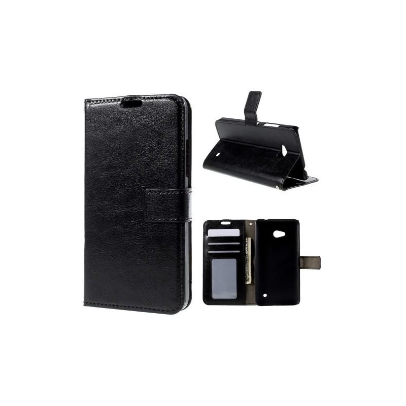 Lumia 640 musta puhelinlompakko