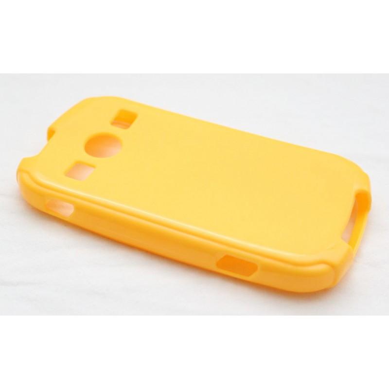 Galaxy Xcover 2 keltainen silikoni suojakuori.