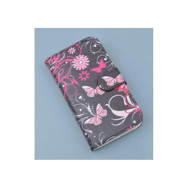 Lumia 820 kukkia ja perhosia puhelinlompakko