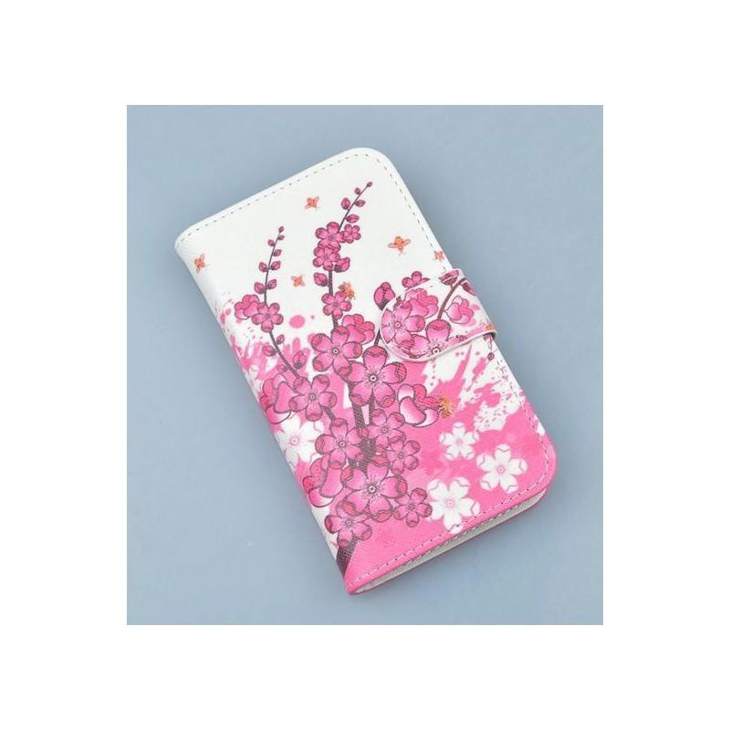 Lumia 800 vaaleanpunaiset kukat puhelinlompakko