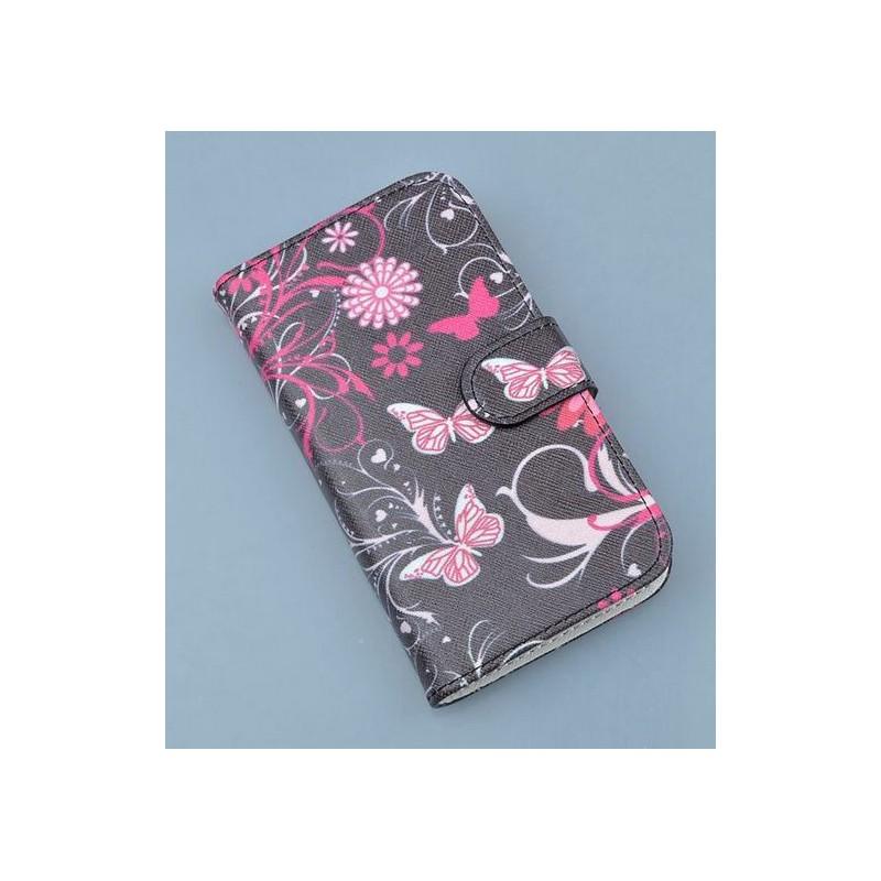 Lumia 620 kukkia ja perhosia puhelinlompakko
