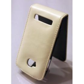 Nokia Lumia 710 valkoinen nahkainen läppäkotelo.