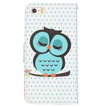 iPhone 5 vihreä pöllö puhelinlompakko