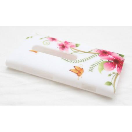 Lumia 800 suojakuori kukkia ja perhosia.