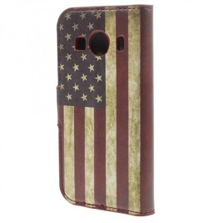 Galaxy ace 4 Yhdysvaltojen lippu puhelinlompakko